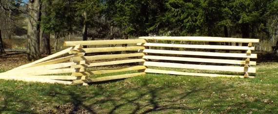 Snake Rail Fence Treated Wvsr